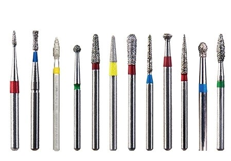 فرزهای الماسه فرز توربین دندانپزشکی فرز گلابی شکل